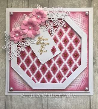 Diamond Layering Stencil Pink Ombre Pastes