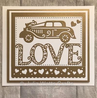 Hanging Love Wedding Car