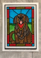 Tutti Designs Dog Stained Glass
