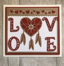 Tutti Designs Hanging Love Heart Dream Catcher