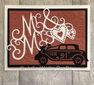 Tutti Designs Mr & Mrs Wedding Car