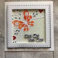 Tutti Designs Cross Stitch framed Butterfly Corner