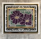 Tutti Designs Rose Frame Poppies Stained Glass