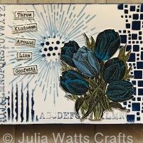 IndigoBlu Vintage Tulips Journal Page