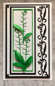 Tutti Designs Lily of the Valley Panel Flower Smile