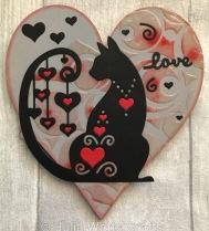 Tutti Desings Fancy Hearted Cat