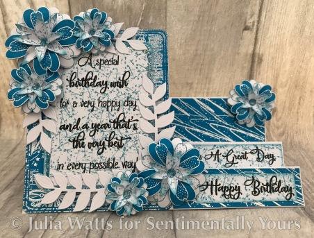 SY Big Birthday Verse A Very Happy Day Stepper Tabriz Blue