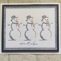 Memory Box Charming Snowman Collage